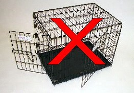 Not accepted animal cage